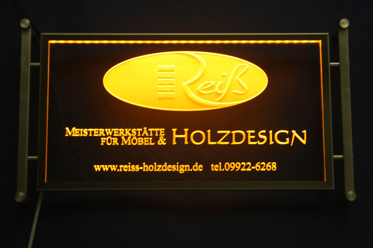poster mit led beleuchtung